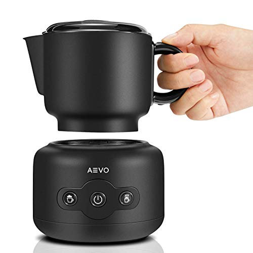 AEVO Detachable Milk Frother Machine Automatic Electric Milk Warmer amp Foam Maker 4 Modes DishwasherSafe Pitcher Independent Heating amp Frothing for Lattes Cappuccinos and Hot Chocolate