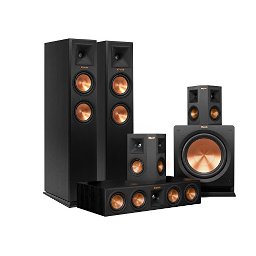 Klipsch RP-250F Home Theater System Bundle (Ebony) with Yamaha RX-A760