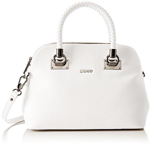 Liu Jo Damen Anna Shopper Bowling Tasche, Weiß (Lily White), 16.5x24x33 cm