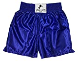 STALLION NEW YORK Boxing Trunks - Classic Professional Competition Boxing Shorts - Blue/X-Large