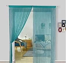 Pindia Aqua Blue 7FT Decorative Polyester String Room Divider Thread Curtain - 7FT, Aqua Blue