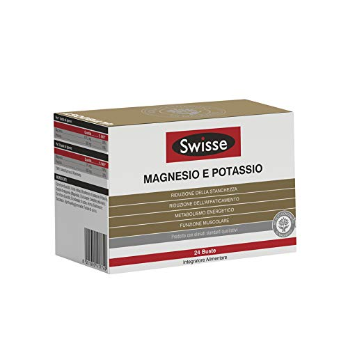 Swisse Magnesio e Potassio, Integrazione di Sali Minerali, Integratore Alimentare, 24 Buste