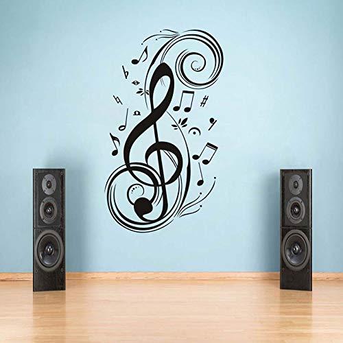 Nota musical decoración del hogar música pegatinas de pared calcomanías impermeables extraíbles habitación de los niños decoración del hogar pegatinas calcomanías A2 42x72cm