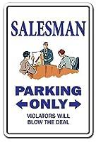 セールスマンの自動車機器の旅行 メタルポスタレトロなポスタ安全標識壁パネル ティンサイン注意看板壁掛けプレート警告サイン絵図ショップ食料品ショッピングモールパーキングバークラブカフェレストラントイレ公共の場ギフト