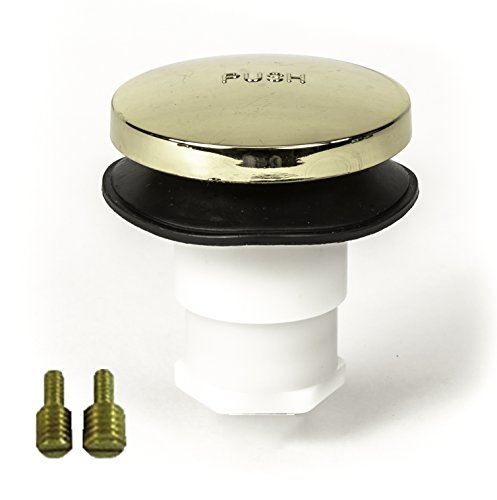 PF WaterWorks PF0935-PB Universal Touch (Tip Toe or Foot Actuated) Bathtub/Bath Tub Drain Stopper includes 3/8