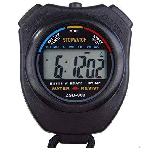Next-Station Digital Professional Sports Stopwatch Timer Water Resistant,Large Display with Date Time and Alarm Function,Ideal for Sports Coaches Fitness Coaches and Referees