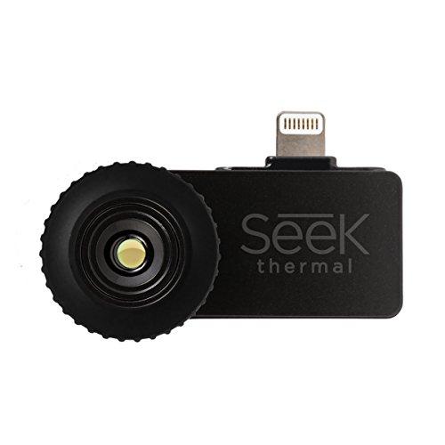Seek Thermal Compact Preiswerte Wärmebildkamera mit Lightning Anschluss und Wasserdichtem Schutzgehäuse Kompatibel mit Apple iOS Smartphones - Schwarz