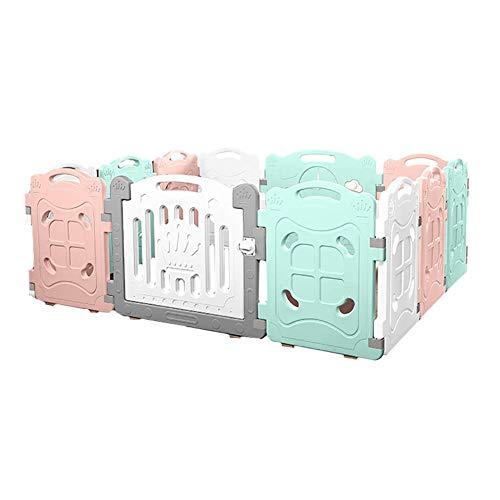 PNFP 12 panelen baby loopstall kinderhuis antislip veiligheid kleine kinderen kruipspen spel pen baby indoor milieu omheining -70 cm