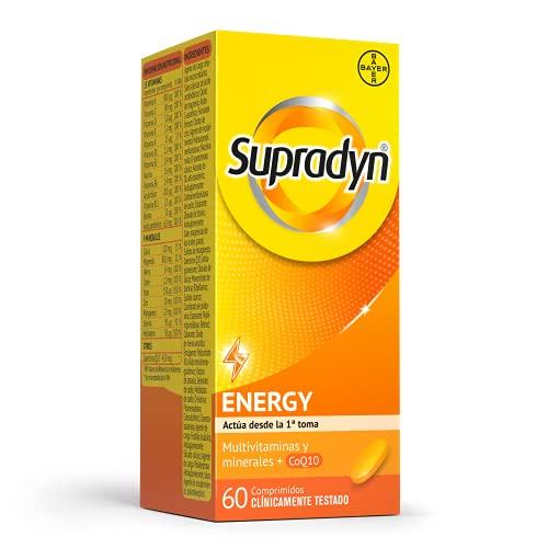 Supradyn Activo Multivitaminas para Todos con Vitaminas, Minerales y Coenzima Q10, Ayuda a Activar y Mantener tu Energía y Reducir el Cansancio, 60 Comprimidos