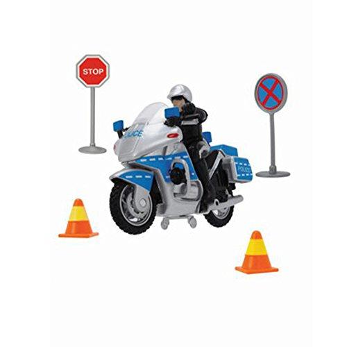 Dickie-Spielzeug 203342001 - Set Giocattolo con Moto della Polizia