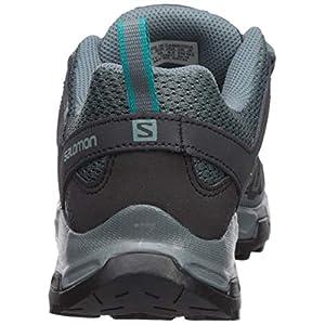 Salomon Women's Pathfinder Hiking Shoes, Stormy Weather/Phantom/Tropical Green, 8.5 B US