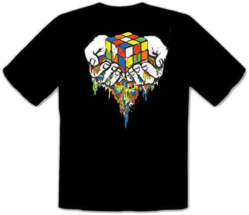 mmshop18 Zauberwürfel Rubik Cube Sheldon Fun Negroe niños T-Shirt Camisetas - 083 -SW Kids