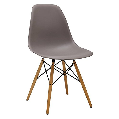 MOF Inspired Eiffel Dining Plastic Chairs Modern Lounge Office Furniture (Steel Grey)
