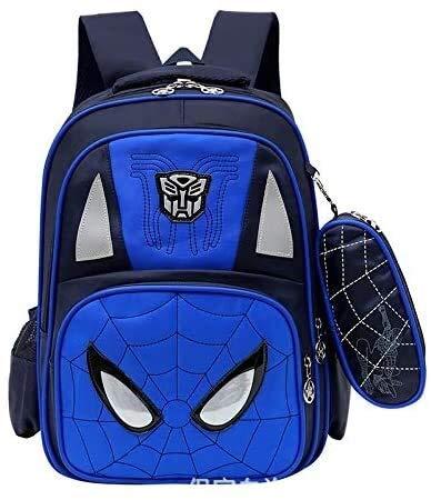 Social Liuzi Boy's Schoolbag Schoolbag Schoolboy Female 1-3-4-5 Backpack for Children in Grades 6-12 Years Old boy Spinal Care Burdens Social Liuzi (Color : 1)