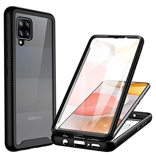CENHUFO Samsung Galaxy A42 5G Hülle, Stoßfest Schutzhülle Samsung A42 5G, 360 Grad vollschutz Cover mit Eingebautem Bildschirmschutz Robust Bumper Hülle Handyhülle für Samsung Galaxy A42 5G (6,6