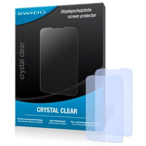 SWIDO Y033118 kristallklar hartbeschichtet Displayschutzfolie für Huawei Ascend Y200 U8655/Y-200 U-8655 (2-er Pack)