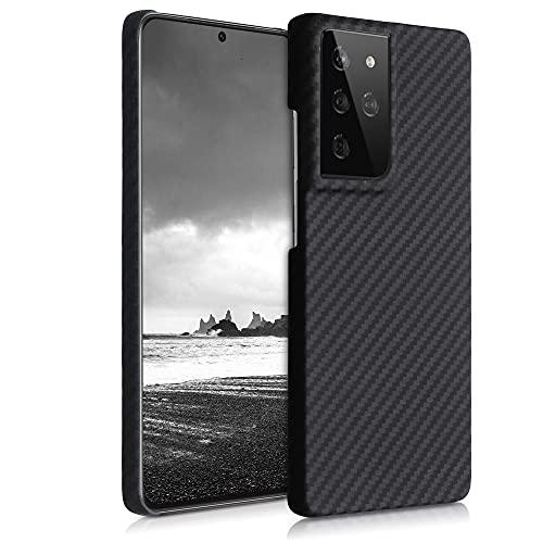 kalibri Schutzhülle kompatibel mit Samsung Galaxy S21 Ultra - Hülle Aramid - Handy Cover Hülle Handyhülle Schwarz matt