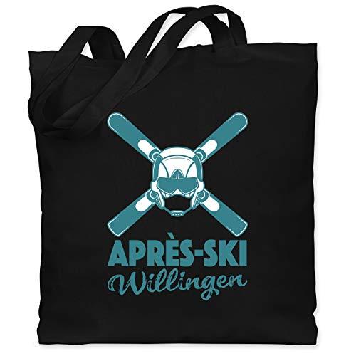 Après Ski - Après-Ski Willingen - Unisize - Schwarz - Snowboard - WM101 - Stoffbeutel aus Baumwolle Jutebeutel lange Henkel