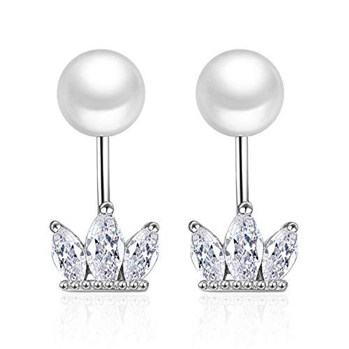 ASAE Ohrringe, Ohrringe Blume Kristall EIS Anhänger Vintage Ohrringe Für Frauen Mädchen Creolen Dangling Leaf Sparkling Geschenk Symbolisiert Glück Und Erneuerung.