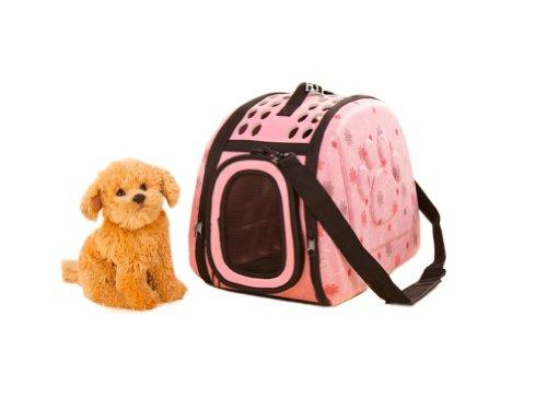 Sac Portable épaule Pet Carrier pour chiens et chats (42 * 26 * 32cm, Rose)