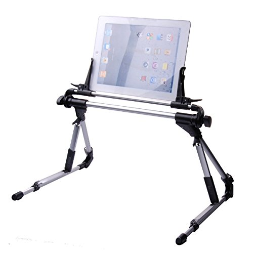 Soporte universal ajustable y plegable para dispositivos de menos de 24 cm. Para Samsung Galaxy, Tablets, iPad 1 2 3 4 5 Air, iPhone 6/6 Plus. Color negro
