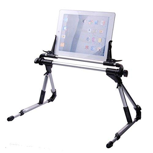 Soporte universal ajustable y plegable para dispositivos de menos de 24cm. Para Samsung Galaxy, Tablets, iPad 12345Air, iPhone 6/6Plus. Color negro