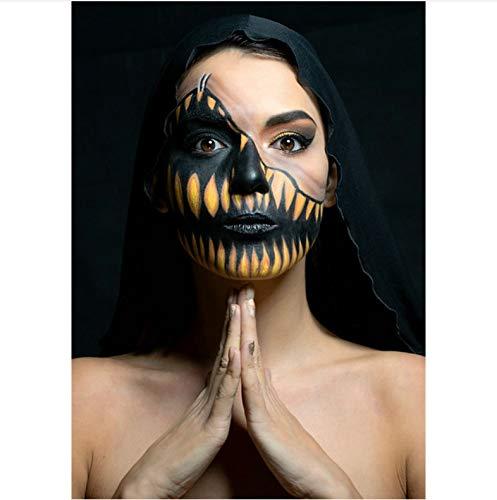 mohanshop Oscuro Gótico con Capucha Momia Oro Negro Máscara De Maquillaje Vampiro...