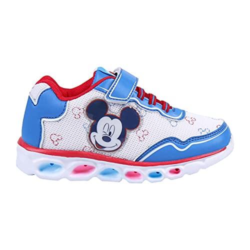 CERDÁ LIFE'S LITTLE MOMENTS, Zapatillas con Luces Niño de Mickey-Licencia Oficial Disney, Azul, 24 EU