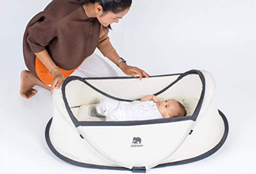 Deryan Baby-Reisebett, Khaki - 8