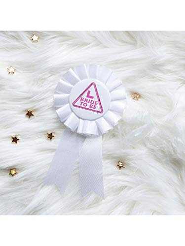 Écharpe de Alandra Party ROS-100 « Bride to Be », « Miss Behave » de couleur blanche avec rosette
