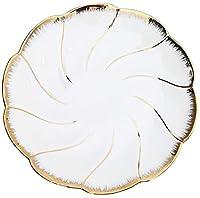 Xinwan版ディナープレートパーティーサービングストーラフラット皿プレート寿司磁器プレートビーズ8/10インチサーブ(カラー:ホワイト、サイズ:大)
