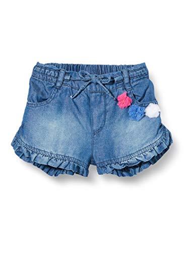 Brums Baby-Mädchen Denim Leggero Con Rouches Shorts, Grau (Super Stone Wash 01 149), 92 (Herstellergröße: 24M)