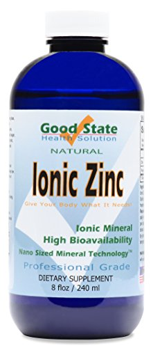 Good State   Liquid Ionic Zinc   Dietary Supplement   Great for Immune System   96 Servings at 18 Mg   8 Fl oz Bottle