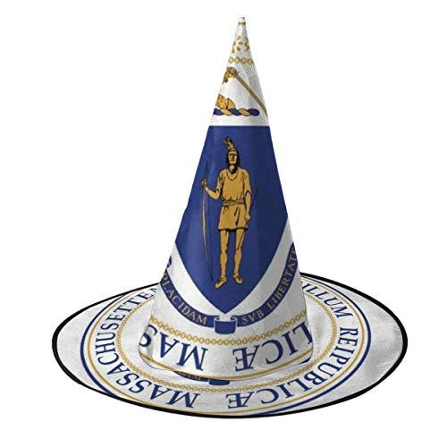 rouxf Bandera de Massachusetts Sombrero de Bruja Disfraz de Halloween Cosplay Accesorio de Bruja Malvada para nios y Adultos