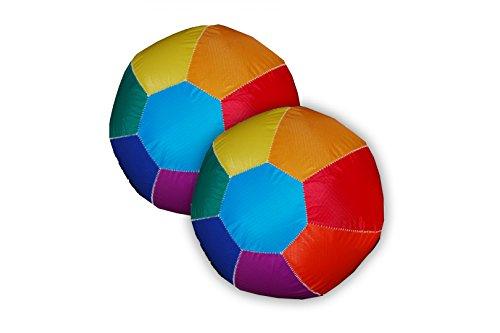 Aurich 2er Set Ball Regenbogen für unterwegs 26 cm 2 Stück inkl. 6 Luftballons