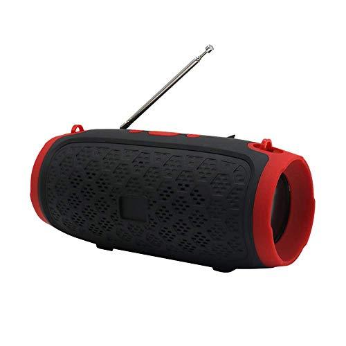 TIANYOU Altavoces Portátiles Al Aire Libre, Altavoces de Bluetooth Portátil Recargable, Tarjeta de Soporte Tf, Usb, Fm, Interconexión Inalámbrica Tws, Rojo Calidad de sonido sin pér