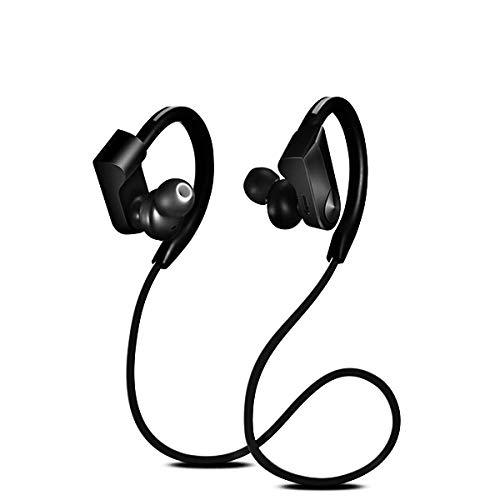 Auriculares deportivos con Bluetooth, auriculares inalámbricos, audífonos impermeables, auriculares Bluetooth, auriculares estéreo con graves con micrófono para teléfono