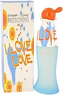 I Love Love by Moschino Eau De Toilette Spray 3.4 oz for Women - 100% Authentic
