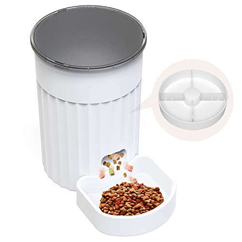 DADYPET Comedero Automatico Gatos,Comedero Perro, Dispensador de Comida para Mascotas,3L Comedero Gato,Alimente hasta 4 Comidas con Regularidad