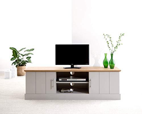 Kendal Grey Panel & Oak Top Living Room Furniture Range (Large TV Unit)