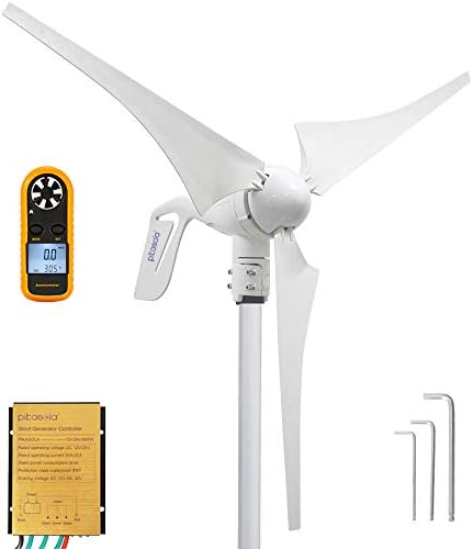 Pikasola Wind Turbine Generator 400W 12V with 3 Blade 2 5m s Low Wind Speed Starting Wind Turbines product image