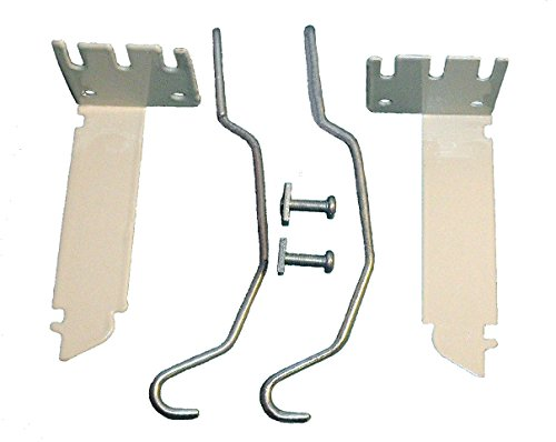 Valance Curtain Rod Extender KIT ~ 1 Pair Brackets with 2 Wire Center Supports