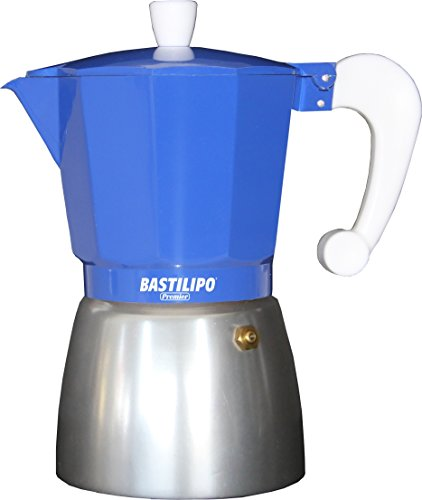 Bastilipo Colori-6 Cafetera, Aluminio, Azul Eléctrico