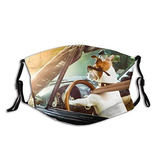 KINGAM Jack Russell - Polaina transpirable para el cuello de la cara, máscara de polvo, resistente al viento, transpirable, pesca, senderismo, correr, ciclismo