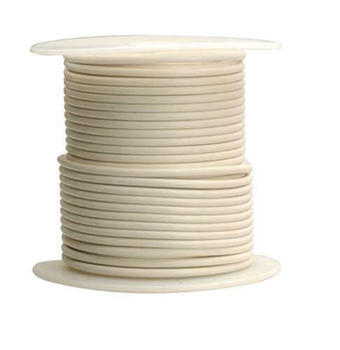 Coleman Cable 55667223 Pimary Wire, 18-Gauge 100-Feet Bulk Spool, White