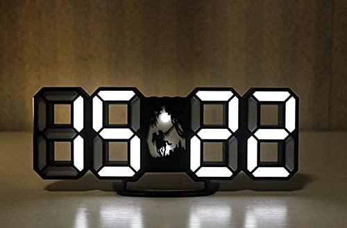 Clock Despertadors DIRIGIÓ Reloj electrónico Multifunción 3D Digital Digital Ajustable Brillo Ajustable con Modo Snooze Decoración Creativa Sala de Estar Casa Reloj Despertador LSJZXW