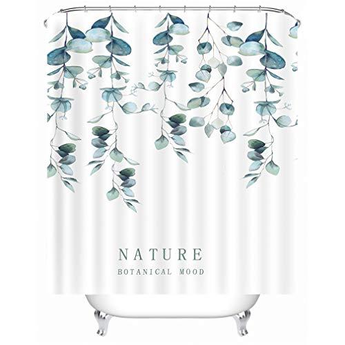 X-Labor Streifen Motiv Duschvorhang Wasserdicht Stoff Anti-Schimmel inkl. 12 Duschvorhangringe Waschbar Badewannevorhang 180x180cm Muster-D