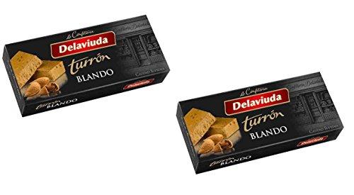 Delaviuda - Il pack Include 2 Turrón Blando, Torrone di mandrole fino - Qualità suprema - 200gr (Senza Gluten)
