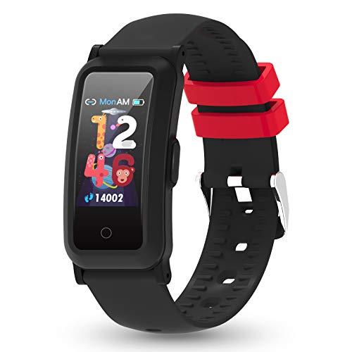 YoYoFit Rastreador de fitness para niños con frecuencia cardíaca, rastreador actividad presión arterial y oxígeno en la sangre, reloj salud contador pasos, calorías, monitor sueño niñas