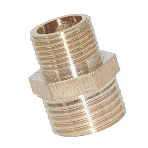 perfk Conector de Grifo de Manguera de Latón Adaptador de Tubería de Agua de Fontanería de Rosca Macho Montaje 13 Tamaños a Elegir - #9